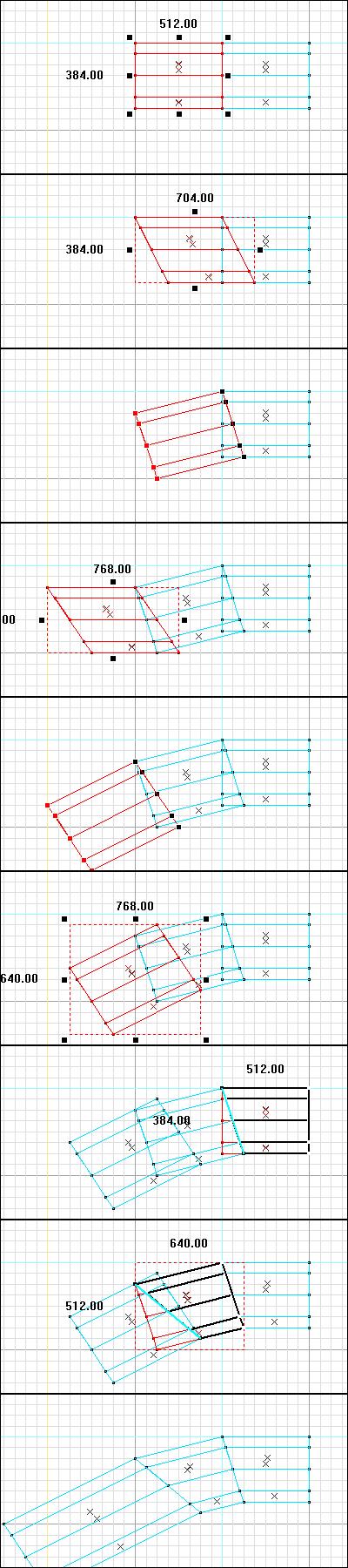 Creating slight curves in brush groups